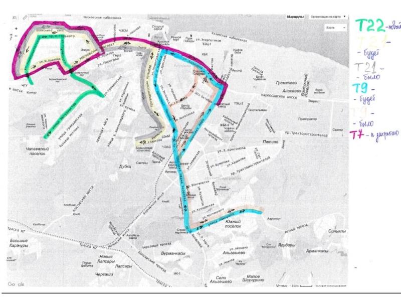 схема движения 44 маршрута чебоксары