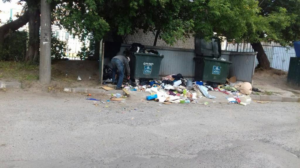Бомжиха отсосала за мусорной свалкой #9