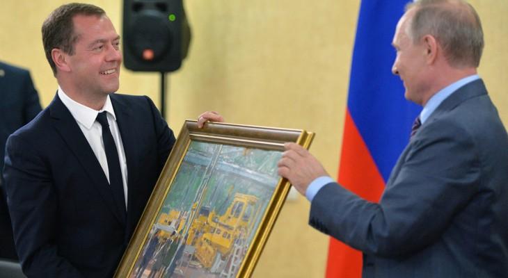 Путин подарил Медведеву на день рождения картину чувашского художника