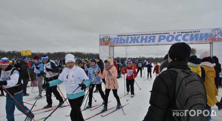 Чебоксарцы на «Лыжне России» прошли три километра