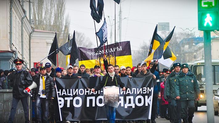 В Чебоксарах прошел Русский Марш
