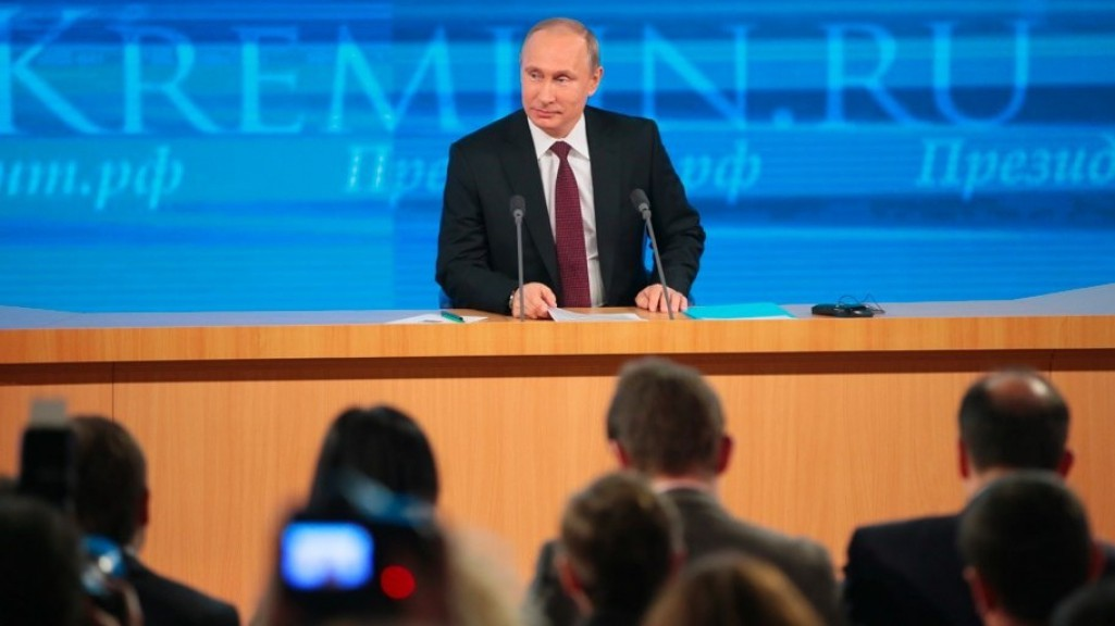 Пресс-конференция Путина: о судьбе рубля, любимом человеке и об Украине