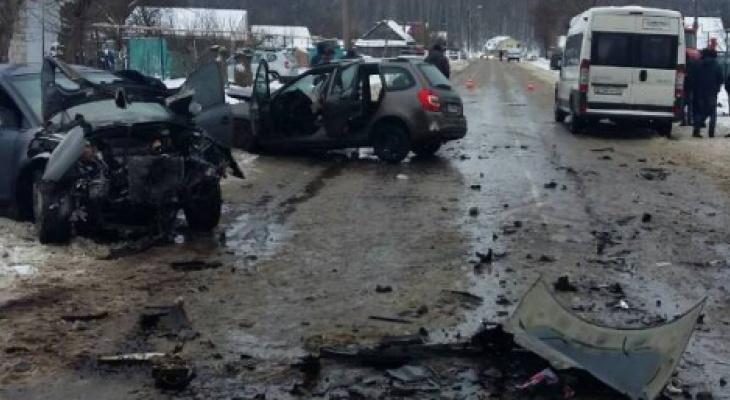 В Ибресинском районе умерла женщина, попавшая утром в крупное ДТП