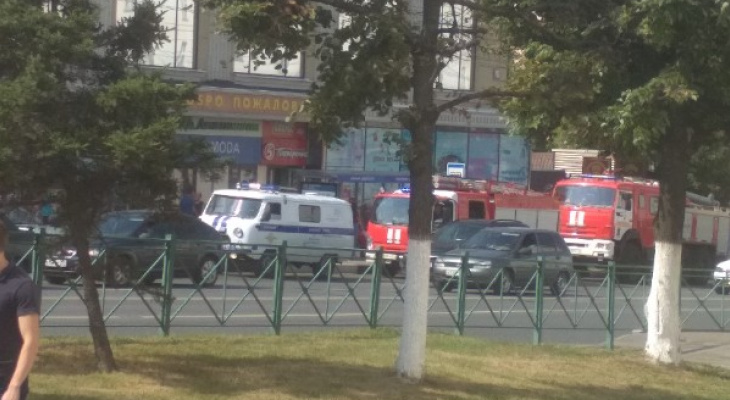 В центре Чебоксар из банка эвакуировали людей