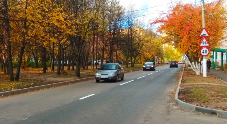 На дорогах Чебоксар появилась новая дорожная разметка