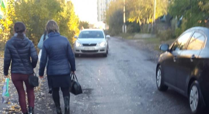 Житель Благовещенского о дороге к школе: «Пешеходы лавируют среди машин»