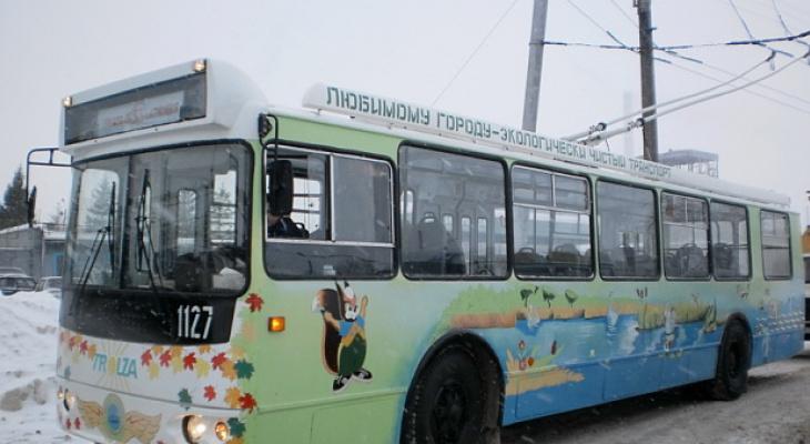 В Новочебоксарске в новогоднюю ночь продлили рейс одного из троллейбусов