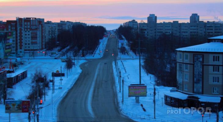 Улицы Чебоксар опустели, город спит после новогодней ночи