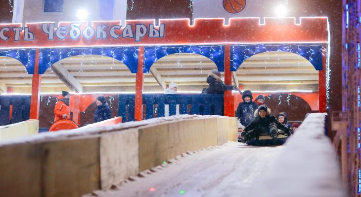 Зимние горки в Чебоксарах оборудованы в четырех местах
