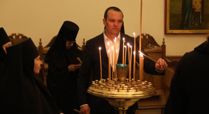 Игнатьев встретил Рождество в мужском монастыре Алатыря