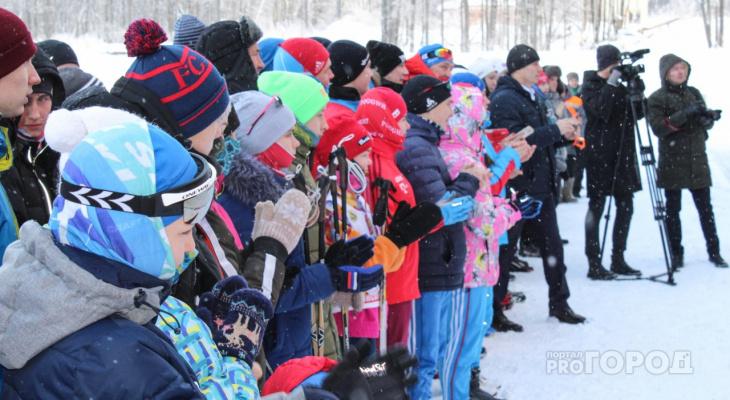 В морозный день на рождественскую гонку вышло 200 человек