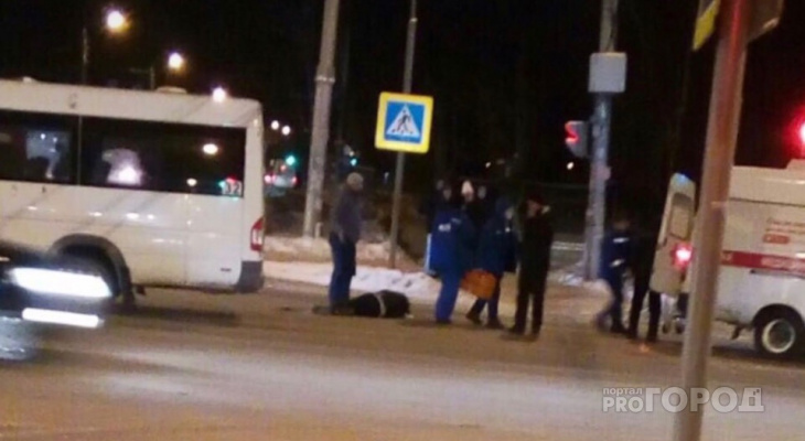 В Чебоксарах маршрутка сбила пешехода, нарушившего ПДД