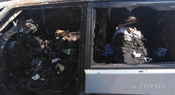Владельцы сгоревшей в Новочебоксарске машины рассказали, как все произошло