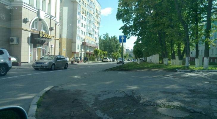 В центре Чебоксар на одном из переулков ввели одностороннее движение