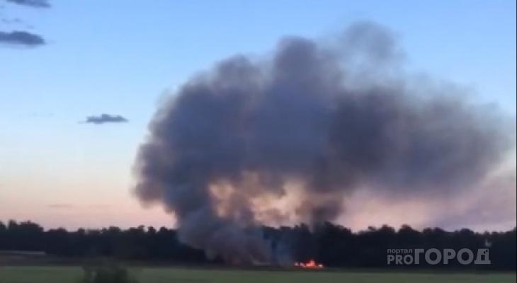 В Цивильском районе спустя пару месяцев опять загорелась свалка