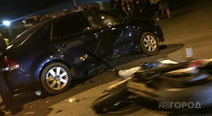 В МВД назвали предварительную причину смертельной аварии с мотоциклом