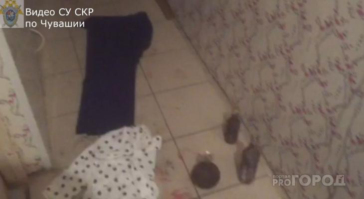 Появилось видео с места двойного убийства в Новочебоксарске