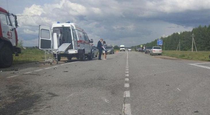 В Ядринском районе при ДТП пострадало пять человек