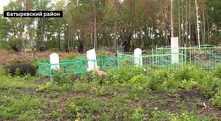 В Батыревском районе уборка на кладбище закончилась пожаром
