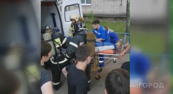 В общежитии Чебоксар соседи спасли женщину из горящей комнаты