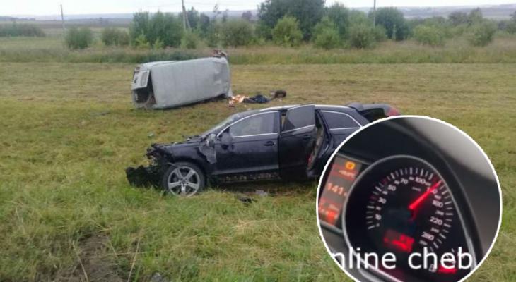 На видео водитель Audi Q7, сбежавший с ДТП, разгонялся до 200 км/ч