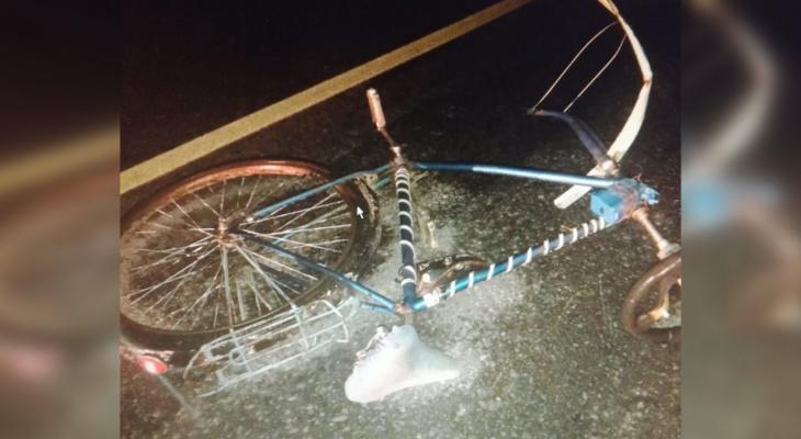 В Чебоксарском районе в результате ДТП велосипедист попал в реанимацию
