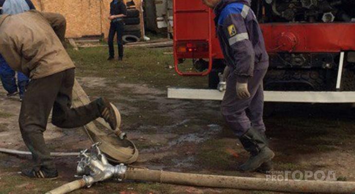 В Цивильском районе во время пожара в кирпичном доме погиб человек
