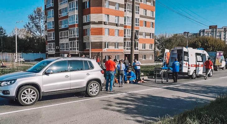 В Новочебоксарске автомобилистка сбила пьяного велосипедиста