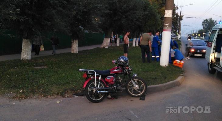 В Южном Поселке 14-летний мотоциклист попал в ДТП