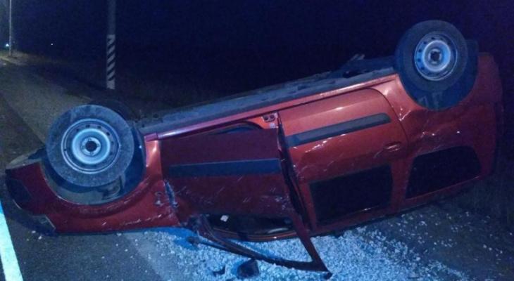 В Канашском районе в ДТП с нетрезвым водителем перевернулся автомобиль