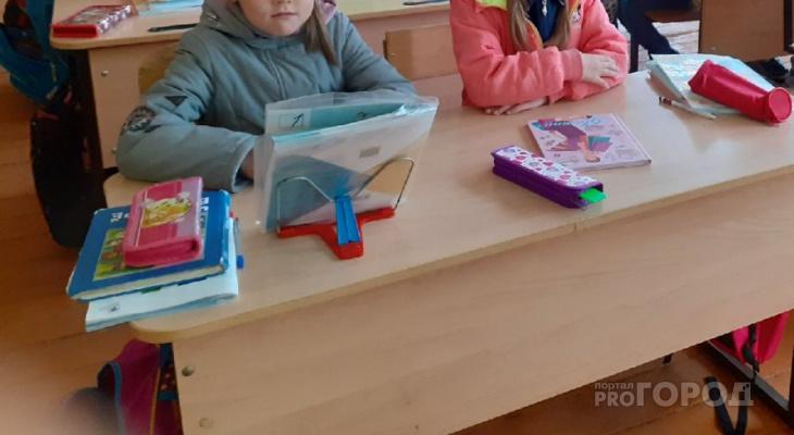 В школе Мариинско-Посадского района дети учатся, сидя в куртках