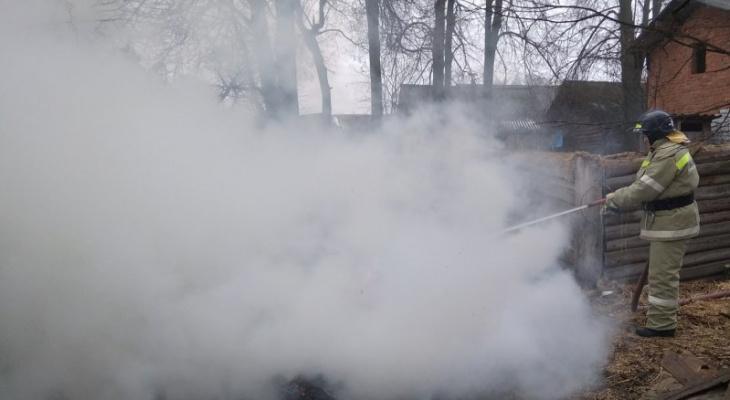 Мужчина сжигал остатки соломы, а спасать пришлось дом