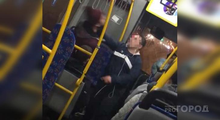 Водитель автобуса подрался с пьяным пассажиром из-за мусора в салоне