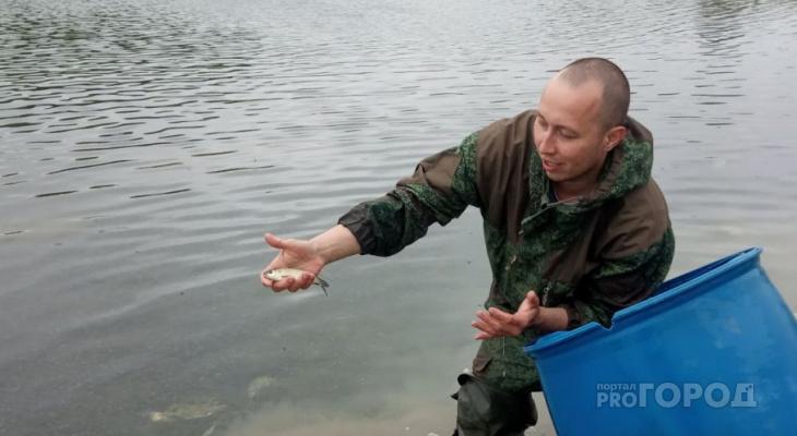 Жители Чувашии выпустили 60 килограмм мальков в случайный пруд