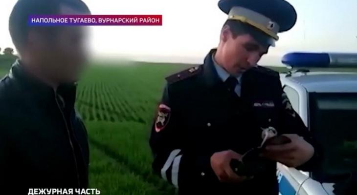 Пьяный водитель хотел скрыться от ГИБДД в полях Вурнарского района, но потом устал