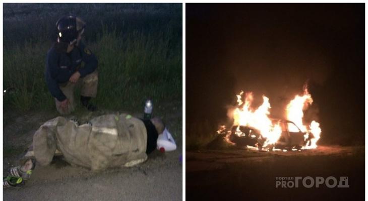 Чебоксарец о вспыхнувшей «Приоре»: «На водителе горела одежда»