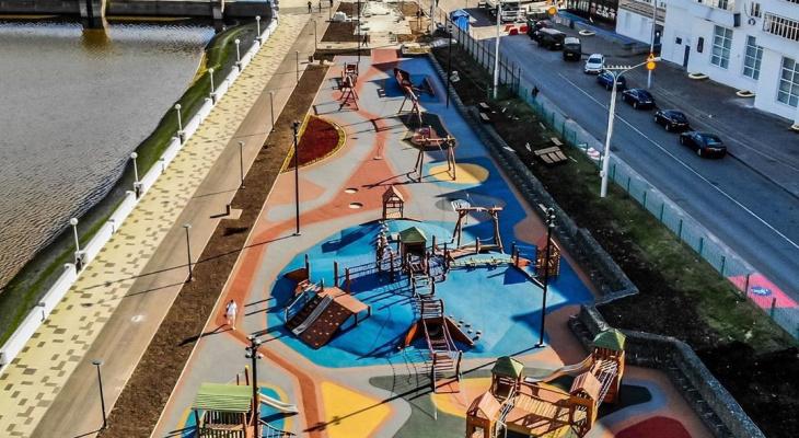 На Красной площади Чебоксар появился детский парк