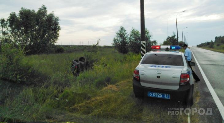 Под Новочебоксарском водитель вылетел в кювет и сбежал с места ДТП