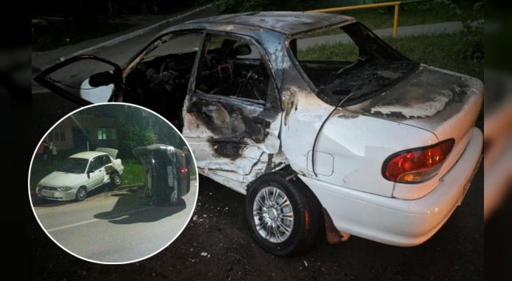 Машину чебоксарца, попавшую в серьезное ДТП ранее, сожгли этой ночью