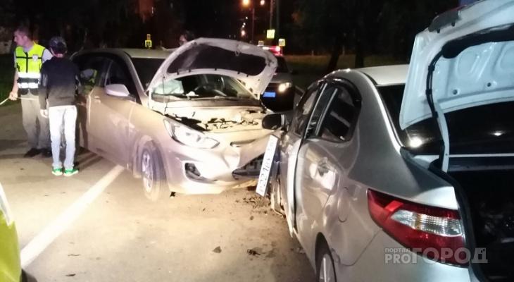 В Чебоксарах автоледи отвлеклась на телефон и выехала на встречку