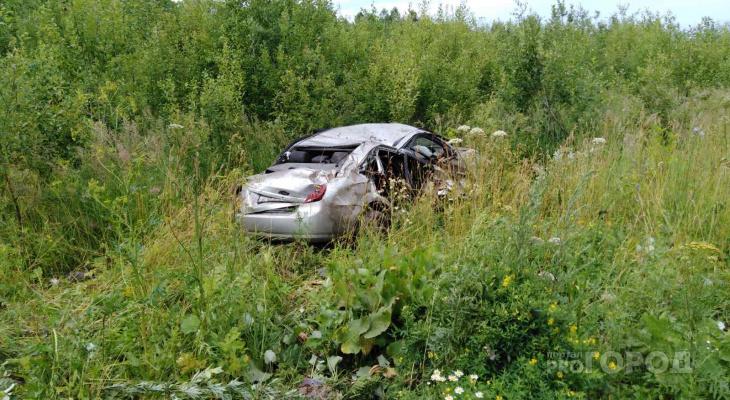 В Чебоксарах пьяный водитель вылетел в кювет