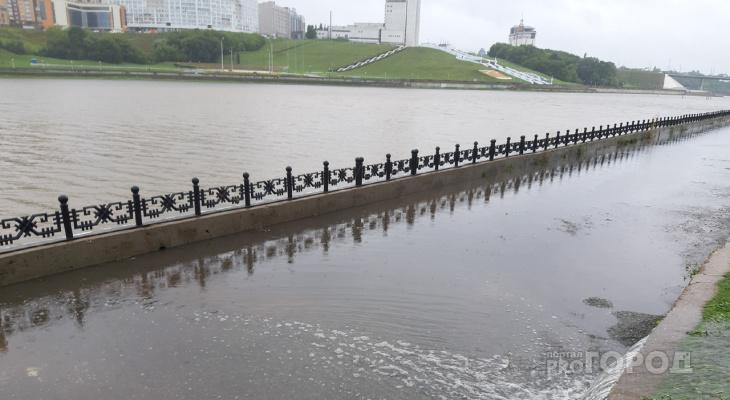 Чебоксарский залив вышел из берегов