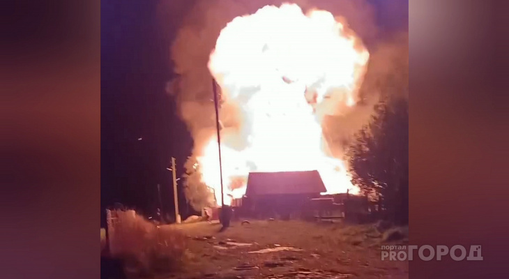 В Чебоксарском районе жилой дом сначала загорелся, а потом произошел взрыв