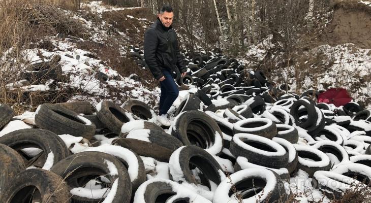 Возле Чебоксар растет свалка из тысячи автомобильных шин