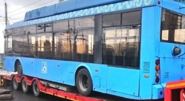 Три списанных троллейбуса из Москвы выехали в Чебоксары