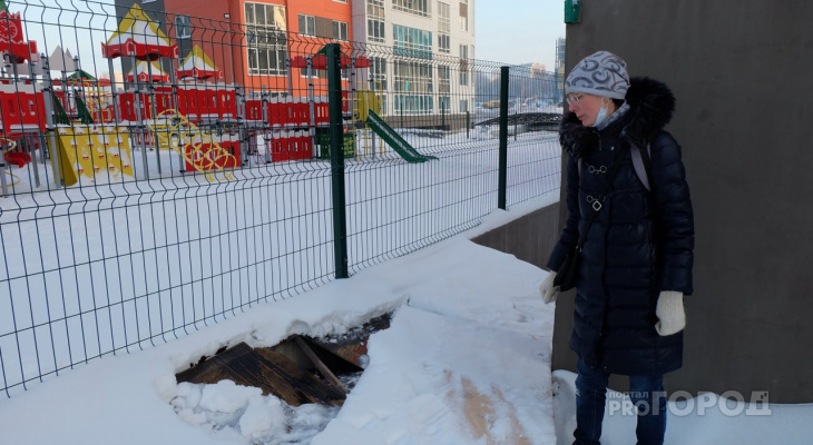 В центре Чебоксар школьник провалился в подземную парковку и сломал ногу