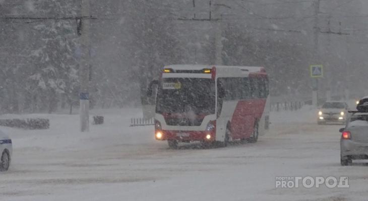 В Чувашии остановили движение рейсовых автобусов из-за метели