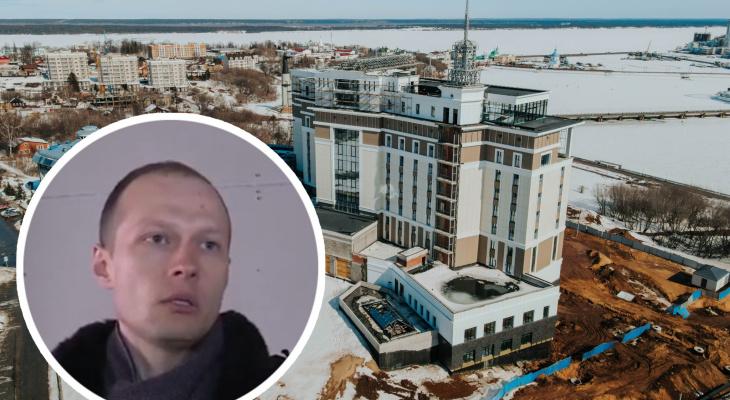 В Чебоксарах достраивают скандальное здание: не сползет ли пятизвездочный отель в залив