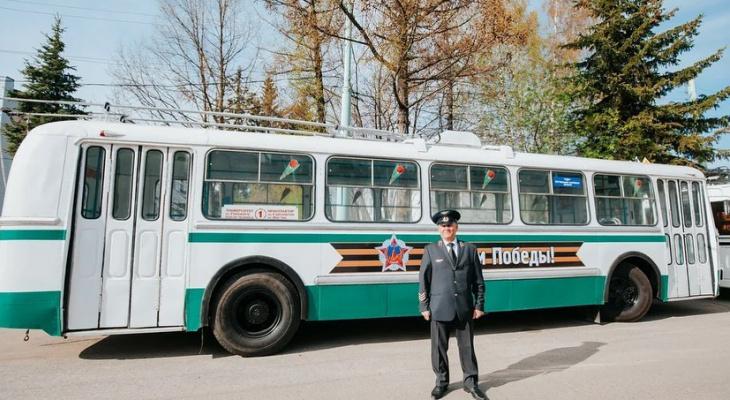 В Чебоксарах на 9 Мая запустят ретро-троллейбус с отслеживанием по ГЛОНАСС