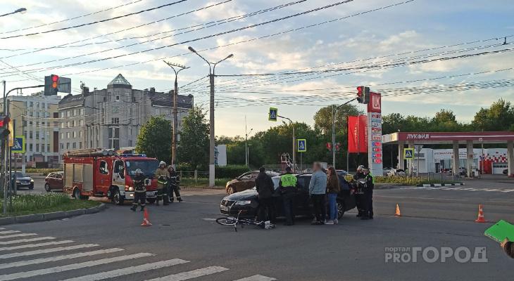 В Новочебоксарске иномарка сбила велосипедиста